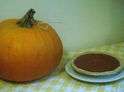 Pumpkin Pie, with crust